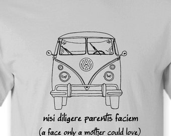 Volkswagen Bus T-Shirt Original Retro Design.. Available in White,Ash Grey S,M,L,XL
