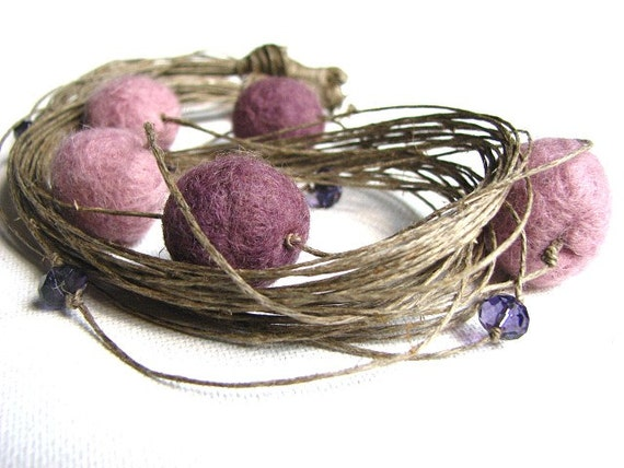 PoWder DiaMond - stone  necklace