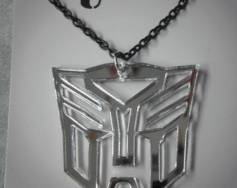 Transformer Inspired Autobot or Decepticon Necklace