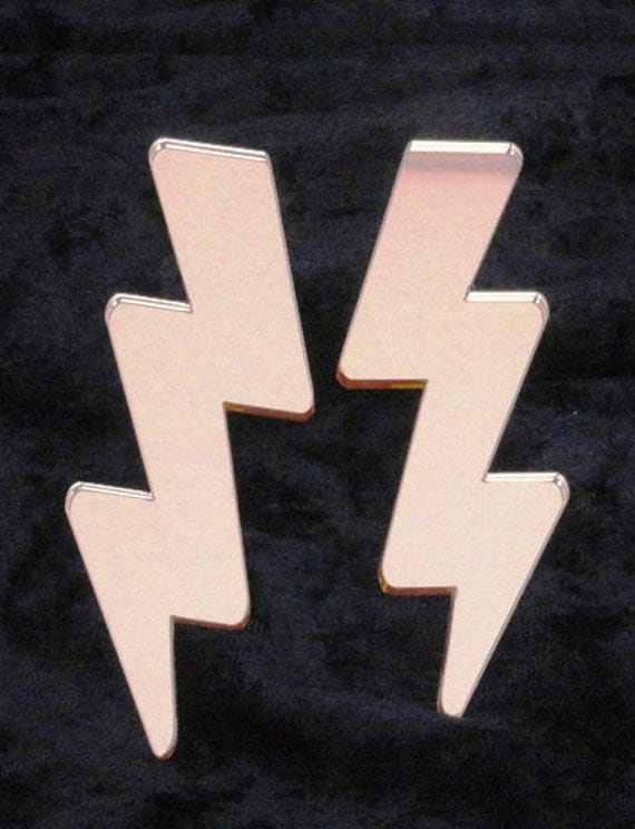 "4"" Rounded Lightning Bolt Earrings"