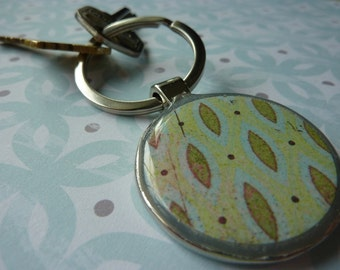 Green Marquise Keychain