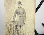 Antique CDV Photograph Photo Civil War Soldier