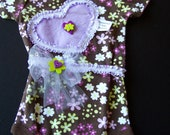 Baby girl onesie Lavender Heart Onesie with headband for baby girl 3-6 month size