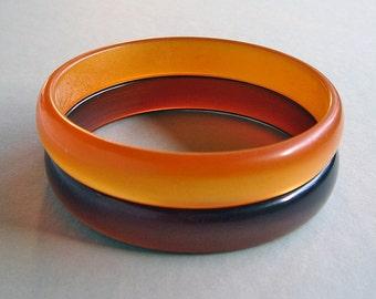 Vintage Stacking Plastic Bangle Pair