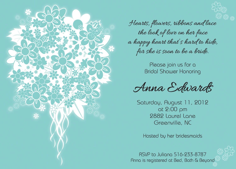 Wedding Shower Invitation Sayings: Aqua Blue And White Wedding Bouquet Bridal Shower Bridal