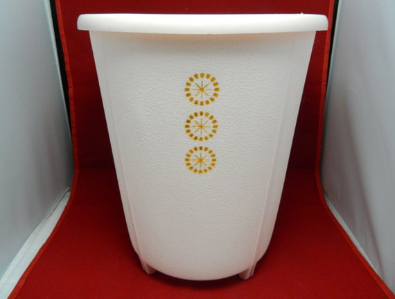 RESERVED FOR STRINGBEADS Mid Century Starburst Trash Can Waste Basket by Rubbermaid