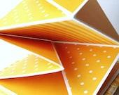 Handmade Scrapbooking Album Squash Book Accordion Album Orange Patterns