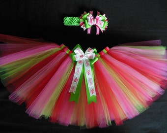 Strawberry Shortcake tutu set, custom made any size Newborn-4t