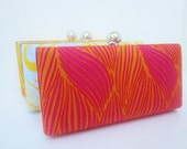 Bridesmaid clutch set/Spring wedding/Summer wedding/Hot Pink Yellow Orange Bridesmaid Set of 3 Clutches/Minaudieres