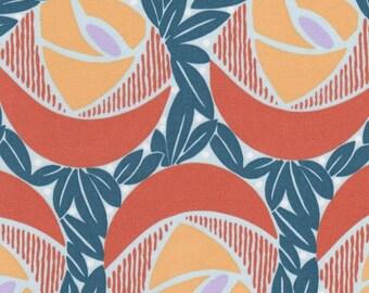SALE, Flora in the color Mango, 1 Yard, Cotton Sateen, Annette Tatum, Classica Collection, Home Dec