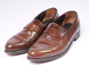 1960s Men's Dress shoe Size 8.5D Brown Loafer