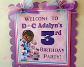 Doc Inspired Collection Door Sign, Party Sign, Hanging Sign -Girl Doctor -Baby Shower -Birthday