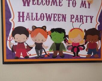 Halloween Kids: Door Sign, Party Sign