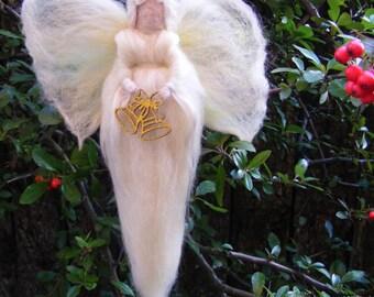 Christmas Bell Angel - Needle felted