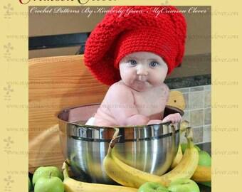 """Crochet Pattern Chef Hat  """"Le Petit Chef Hat"""""""