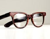 50s wayfarer glasses faux bois tiger zebra stripe black rust orange metallic frames AMAZING