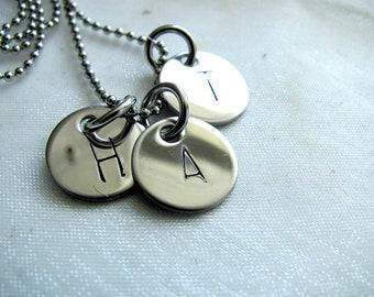 Triple Initial Necklace- Personalized Jewelry - Mommy Jewlery