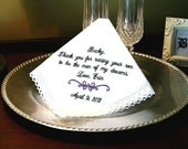 Wedding Gift  for Mother of the Groom Handkerchief - Hanky - Hankie - For the Bride to Give Mother of the Groom - MAN of MY DREAMS - Bridal