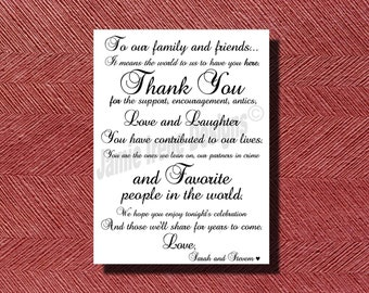 Wedding Day Thank You Card DIY Print-Ready