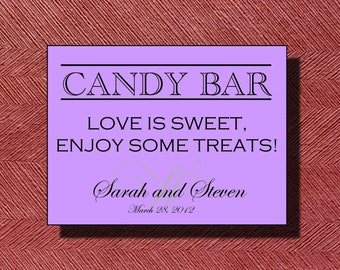 Wedding Candy Buffet Sign
