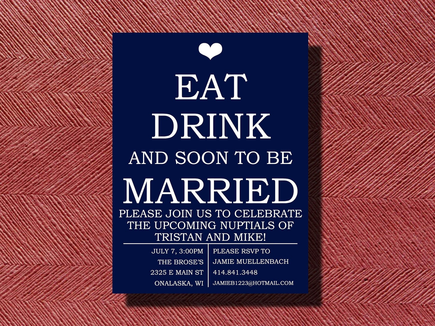 Engagement Party Invitation Eat Drink and be Married – Creative Engagement Party Invitations