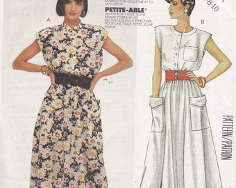 Easy McCalls 2404 sleeveless pullover dress pattern multi sized 6 8 10 from 1986