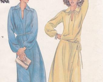 Butterick 5676 Size 12 Matti of Lynne dress top skirt sewing pattern for moderate stretch knits
