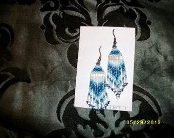 Frosty Blue Earrings