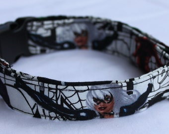 Marvel Comics Black Cat Dog Collar Size Extra Small, Small, Medium or Large