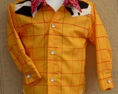 LONG SLEEVED Woody inspired shirt   sizes 1T - 5T
