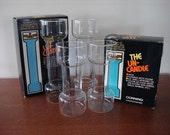 Vintage Un Candle Danish Modern Glass Candle Holders Corning 1970s Set of 4