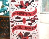 Happy Holidays - Greetings Card