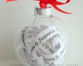 Christmas Ornament keepsake- Will you be my bridesmaid, maid of honor, wedding help, wedding party, bridesmaid invitation