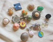 Funky Destash Craft Lot of Vintage Clip On and Screw Back Earrings