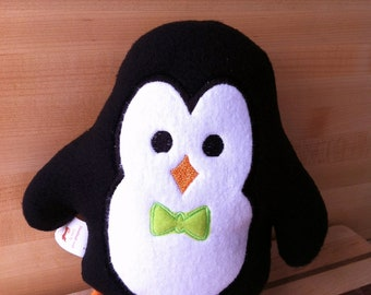 MADE TO ORDER - Penguin Plushie with Bow Tie