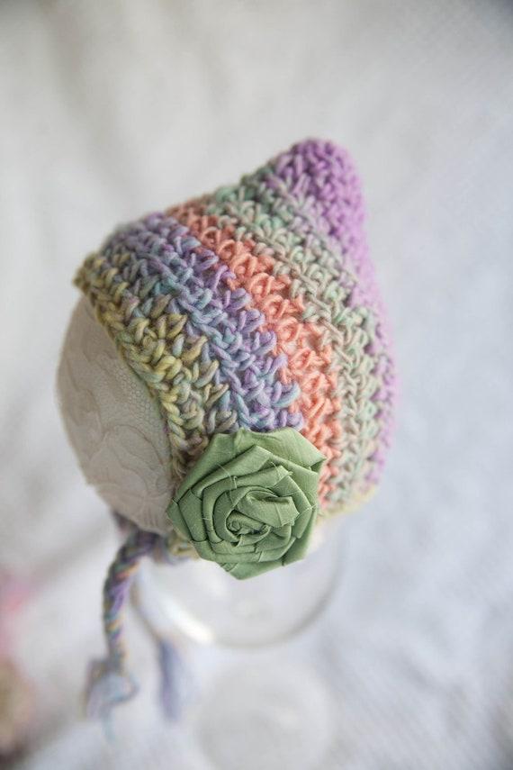 Multi-colored Newborn Pixie Hat