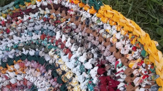 Autumn Color Crocheted Rag Rug
