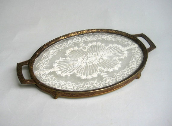 Antique Vanity Tray Vanity Tray With Lace Antique Dresser