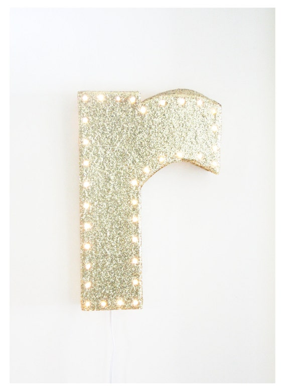 RUNWAY Glitter Light Sign for Martha (CUSTOM ORDER)