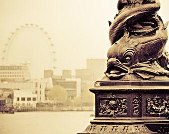 London Eye Photo - Victorian London in Sepia, fine art photography
