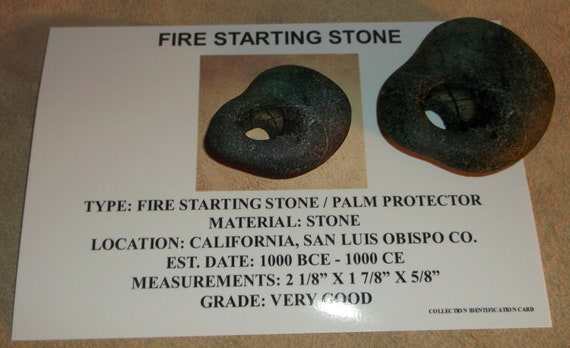 Very Rare Ancient Indian Artifact Fire Starting Stone Nice Native American Piece