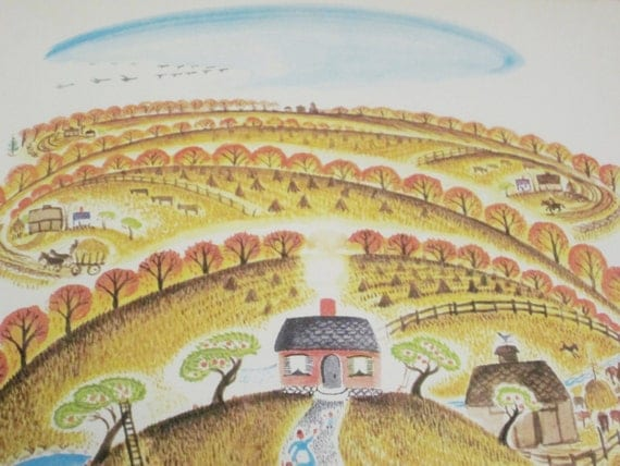 Vintage Childrens Book The Little House 1942 Edition Fall Autumn Winter School