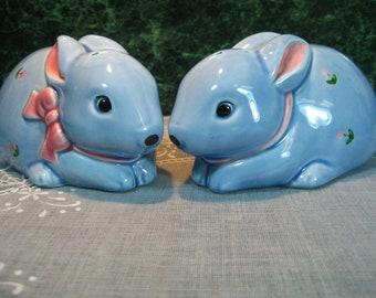 Vintage Otagiri Bunny Salt & Pepper Shaker Set - Otagiri Bunny Shakers - Bunny Shakers - Otagiri Shakers - Otagiri - Otagiri Salt -