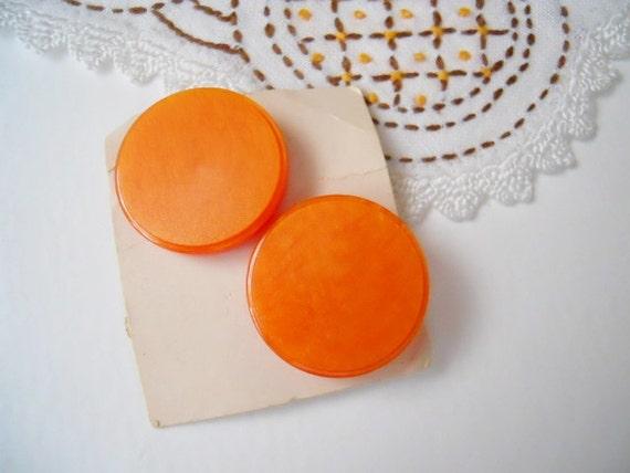 Orange Vintage Buttons