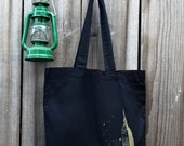 Tote Bag Black Cotton - Gold NYC- Medium Size