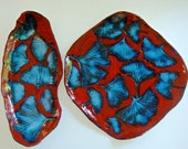 Ginkgo Leaf plates for Autumn Decor and Holiday Decor,