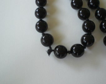 Vintage 1950s to 1960s Black Glass 10mm Beads 1950s For Crafting Destash Beading  Jewelry  Making