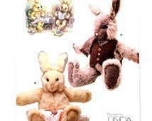 Vogue 7138 Girl Rabbit w/ Dress Or Apron and Boy Rabbits w/ Vest and Scarf  Bunnies  Linda Carr Uncut -