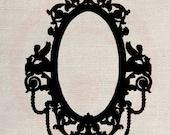Clip Art Design Transfer Digital File Vintage Download DIY Scrapbook Shabby Chic Pillow Burlap Silhouette Frame Mirror Wedding Art No. 0454