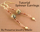 Wire Wrap Earring Tutorial, Wire Wrap Tutorial, Seed Bead Earring Pattern, Earring Pattern, Earring Tutorial